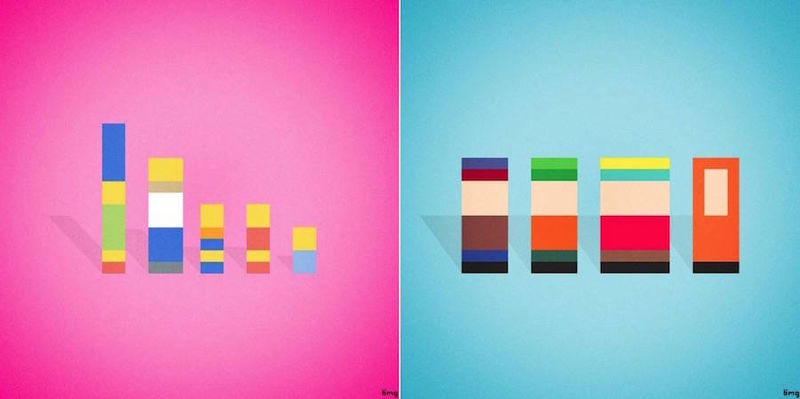 Pixelated Sitcom Characters