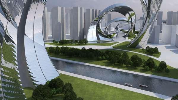 Extensive Spiralling Sculptures