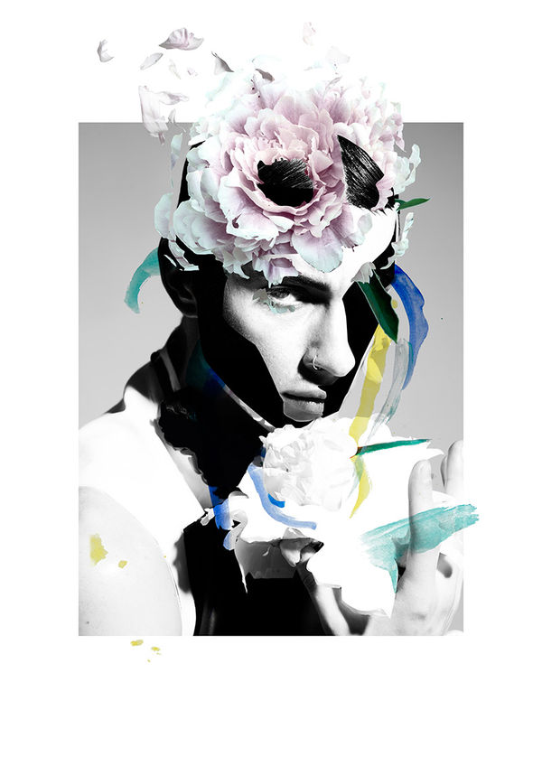 Artistic Menswear-Inspired Collages