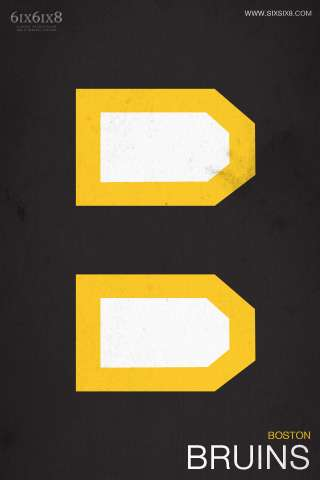 SixSix8 Minimalist NHL Teams