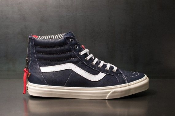 Zipped Canvas Sneakers