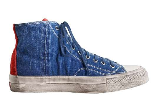 Distressed Denim Kicks