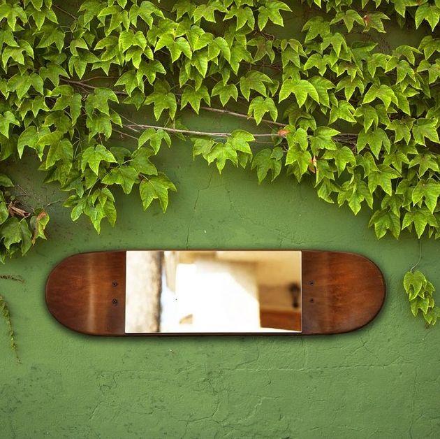 Skateboard Mirror Decor