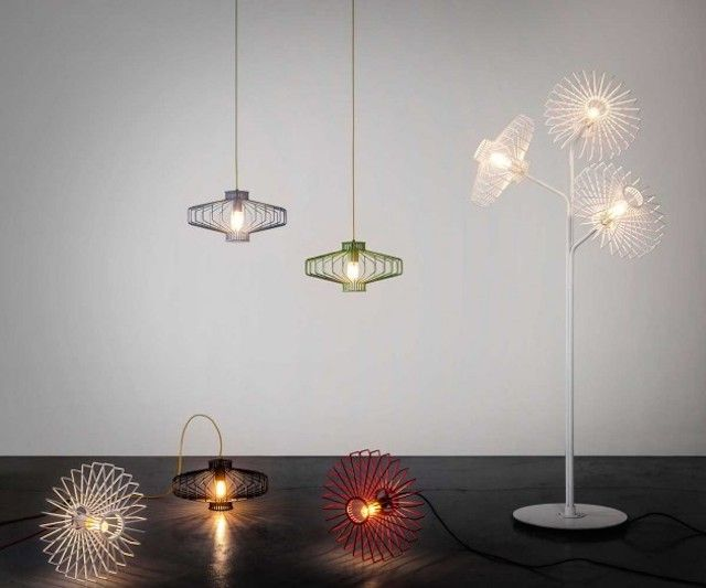 Elegantly Wiry Lamps
