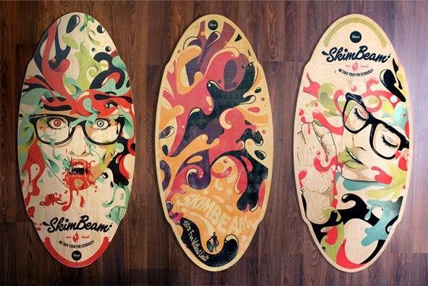 Graffiti-Adorned Beach Boards