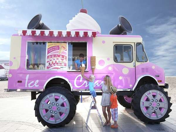 Skoda monster ice cream truck