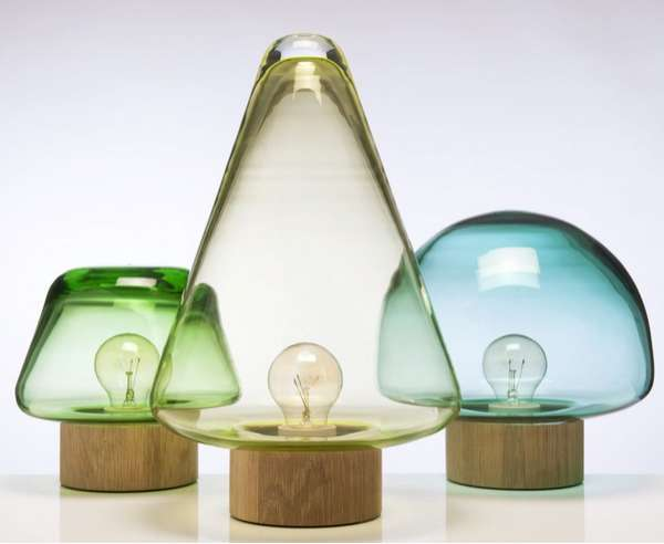 Forest-Inspired Glass Lights