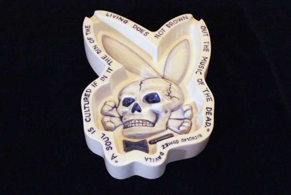 Creepy Skeletal Ashtrays