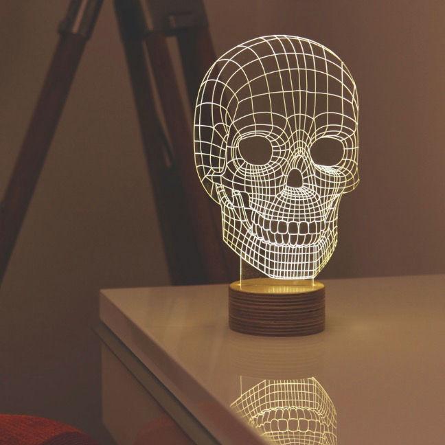 Schematic Skull Lamps