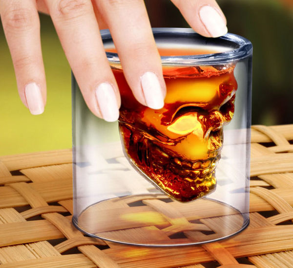 Alcoholic Skull Glasses