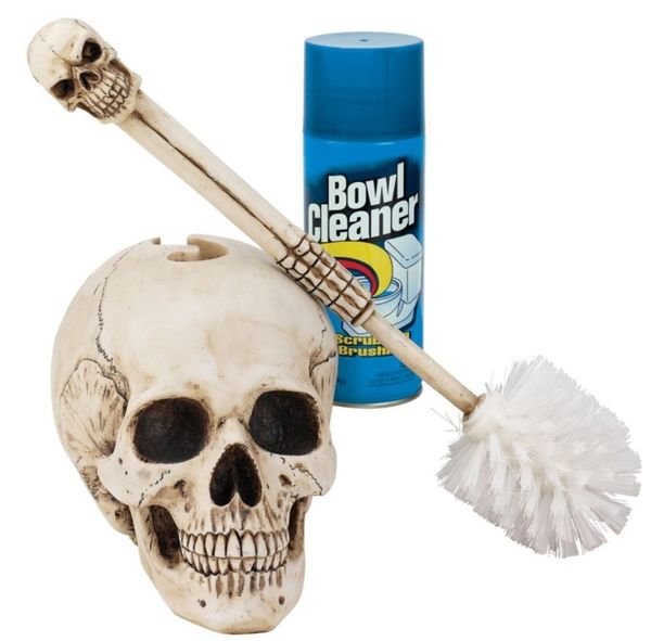skull toilet brush