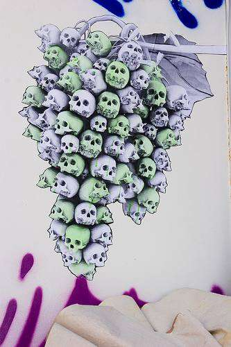 Grape Skull Graffiti