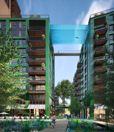 Transparent Pool Bridges