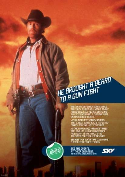 Retro Action Hero Ads