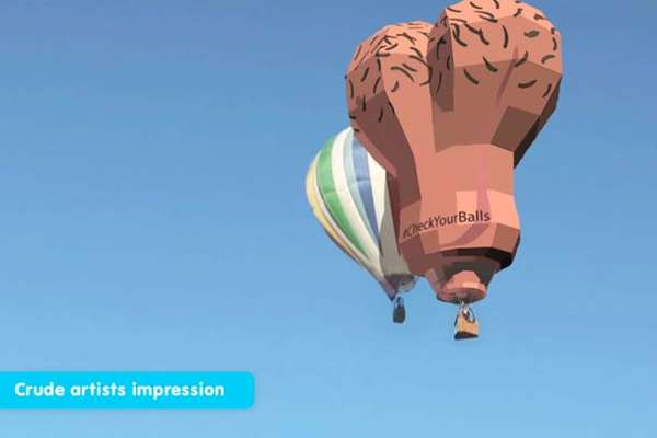 Scrotum Hot Air Balloons