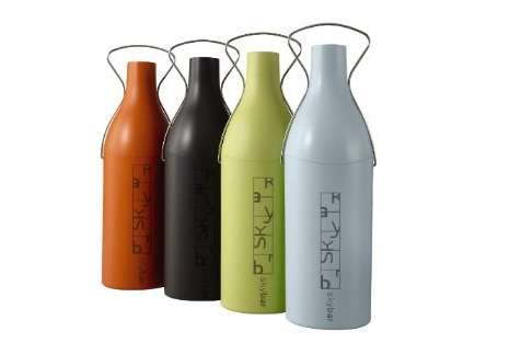 Colorful Champagne Carafes