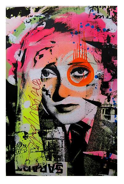 Pink Eye Graffiti Art