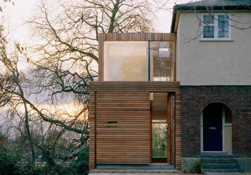 Timber Sliver Extensions Slat House