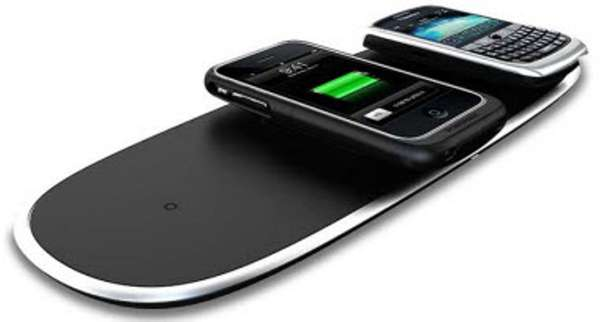 sleek wireless chargers with the powermat you can charge four devices chord