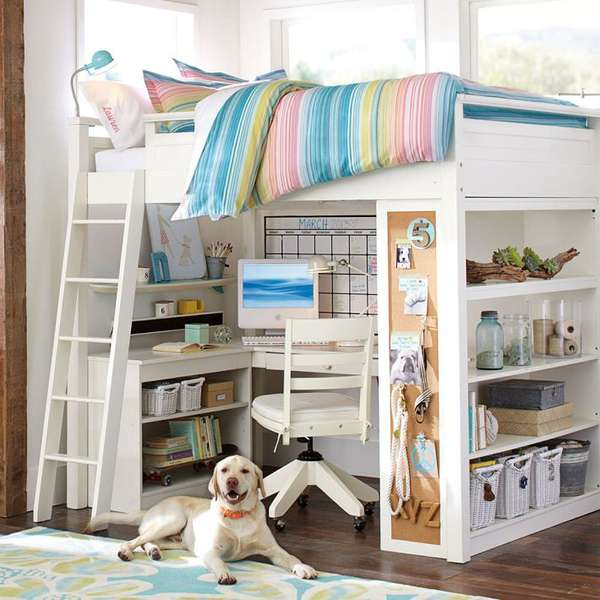 Compact hybrid bunk beds sleep and study for Compact beds