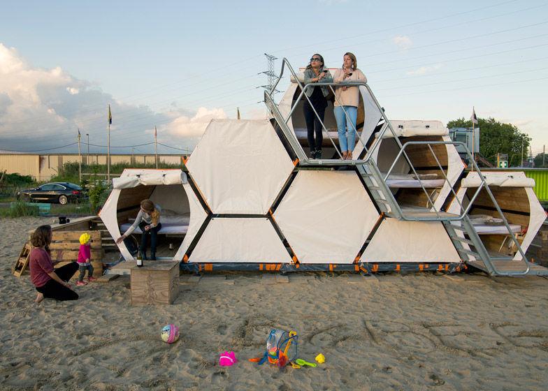 Modular Honeycomb Campers