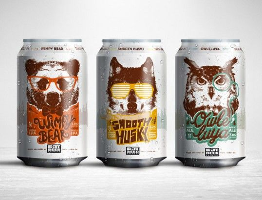 Personified Animal Booze Branding