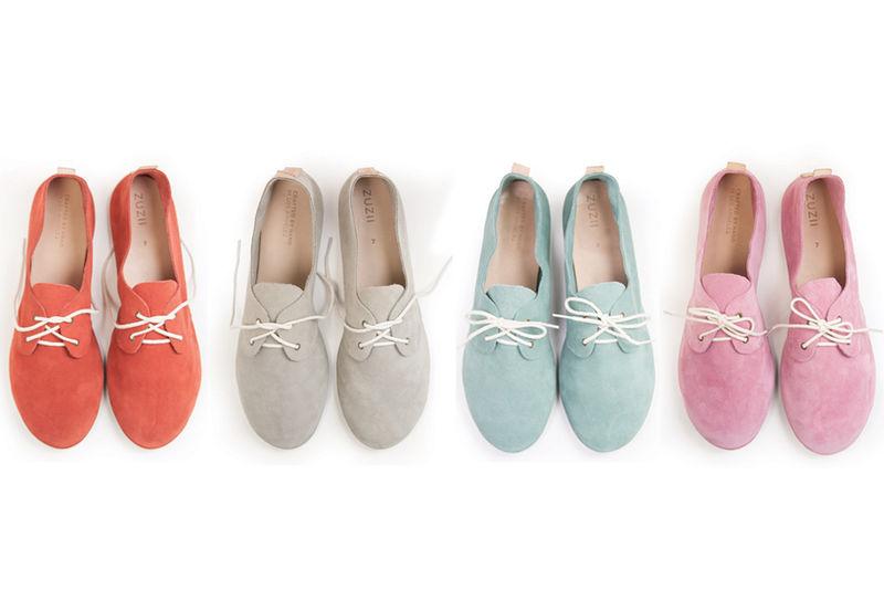 Colorful Suede Oxfords