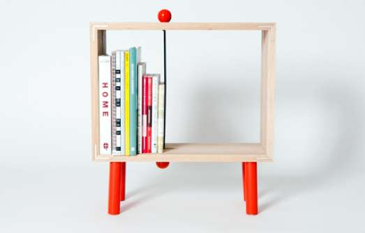 Sliding Bookend Shelves