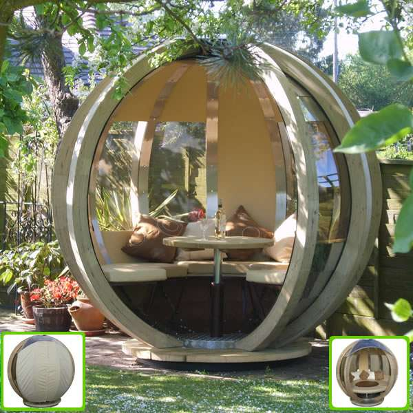 Backyard Getaway Globe Ornate Garden Rotating Lounger