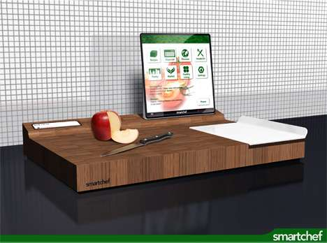 High tech cutting boards the smart chef is a kitchen pc for Kitchen pro smart cutter