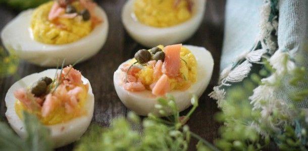 Deviled Lox Eggs