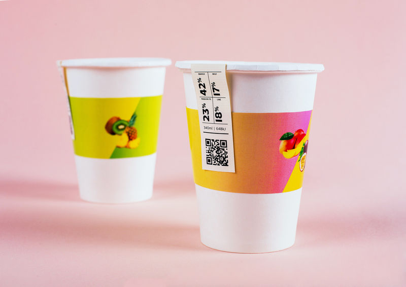 Mathematic Smoothie Branding
