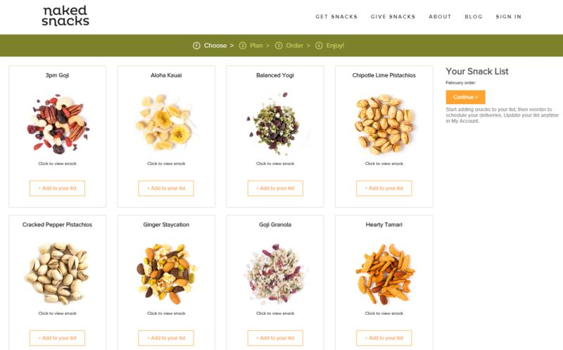 Tailored Snack Subscriptions
