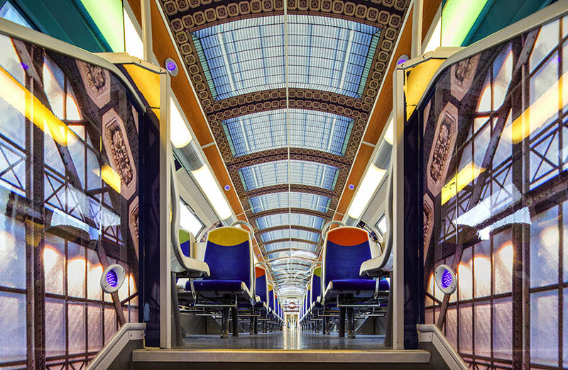 Impressionist Art Train Rides