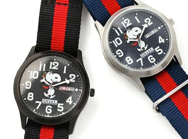 Iconic canine chronographs snoopy military watch for Snoopy watches