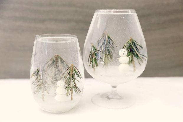 DIY Snow Globe Cocktails