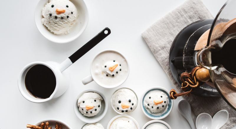 Snowman Affogato Treats