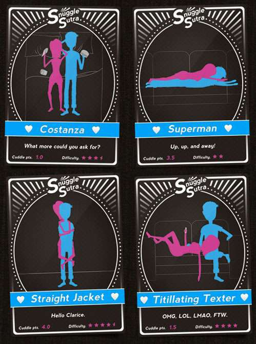 Cuddle Position Playing Cards