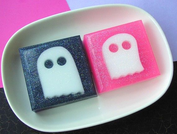 Sparkly Ghost Soaps