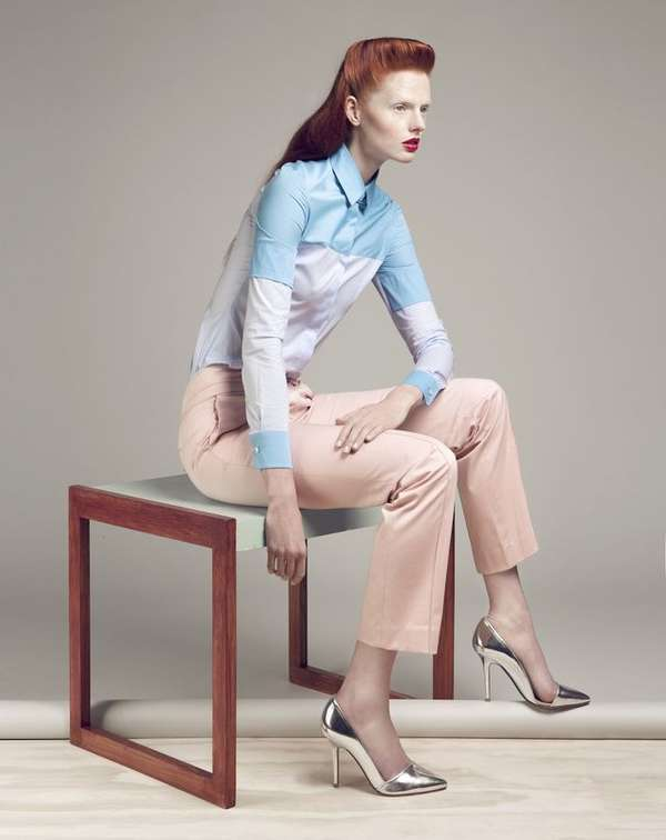 Pastel Color-Block Fashion