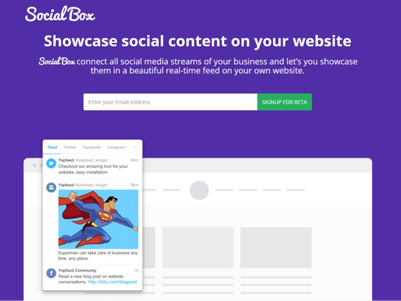 Social Showcasing Widgets