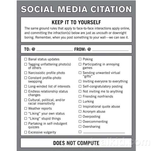 Facebook Etiquette Tips : Social Media Citation