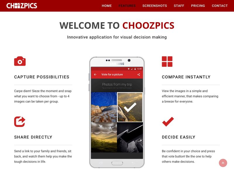 Crowdsourced Photo Decision Apps