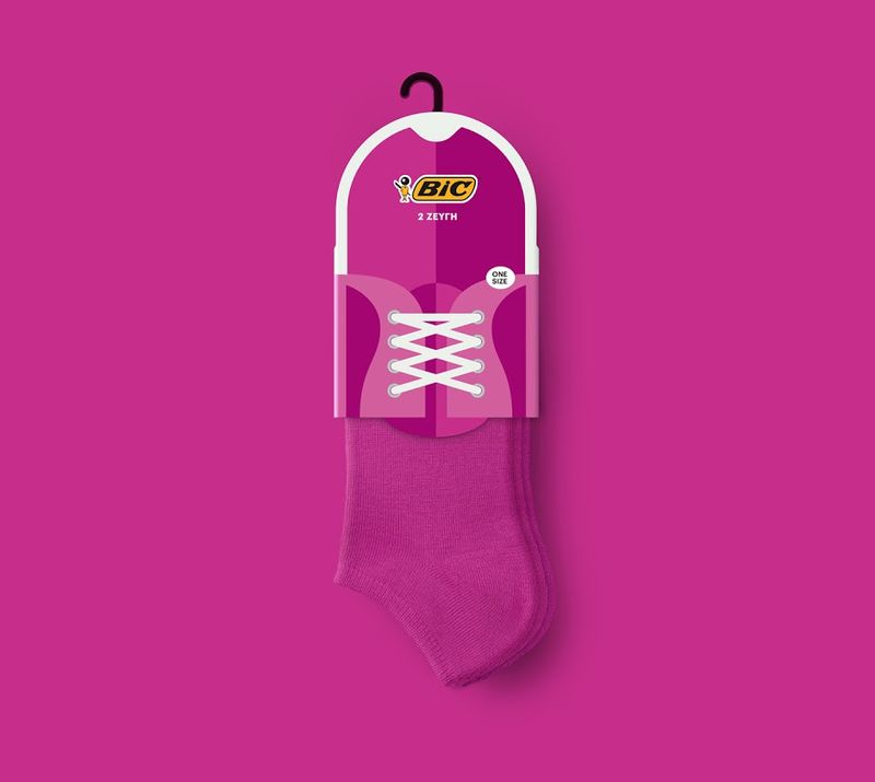 Shoe-Inspired Sock Packaging