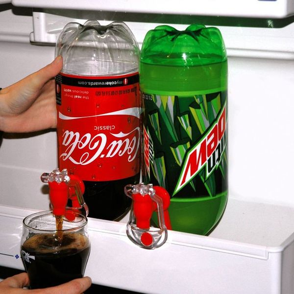 Topsy-Turvy Soda Dispensers