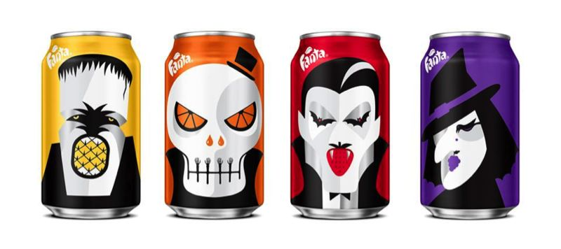 Spooky Soda Cans