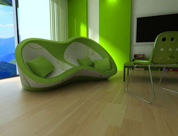 Eccentric Abstract Seating Sofa Iva