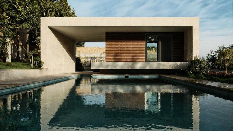 Concrete Pool Pavilions