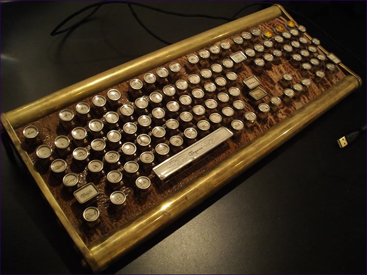 Industrial Steampunk Keyboards Sojourner Keyboard