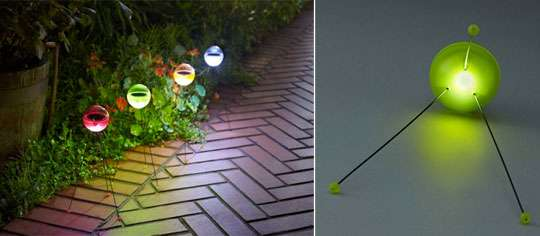 Outer space garden orbs the solar ball light is a flashy for Outer space gardens